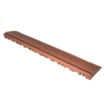 Nájazdová rampa (typ B) k odolným PPC podlahám Swisstrax (hnedá)