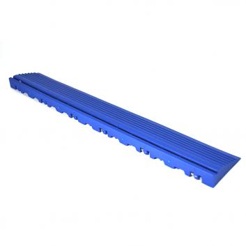 Nájazdová rampa (typ B) k odolným PPC podlahám Swisstrax (modrá)