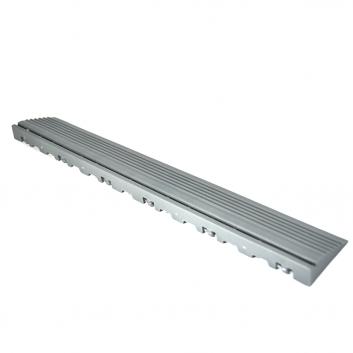 Nájazdová rampa (typ B) k odolným PPC podlahám Swisstrax (sivá)