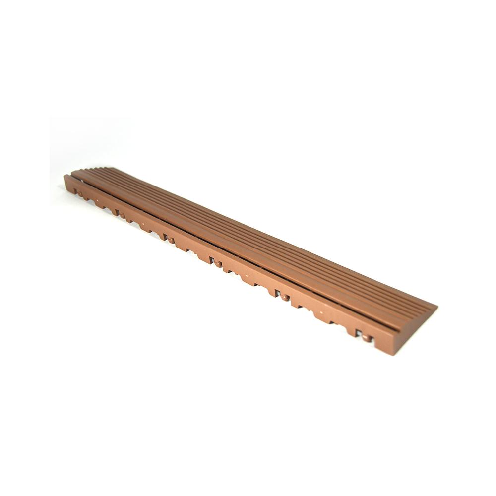 Nájazdová rampa (typ B) k odolným PPC podlahám Swisstrax (slabo hnedá)