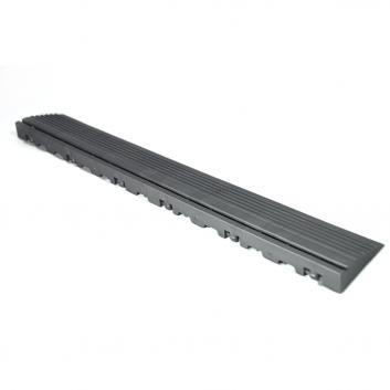 Nájazdová rampa (typ B) k odolným PPC podlahám Swisstrax (tmavo sivá)