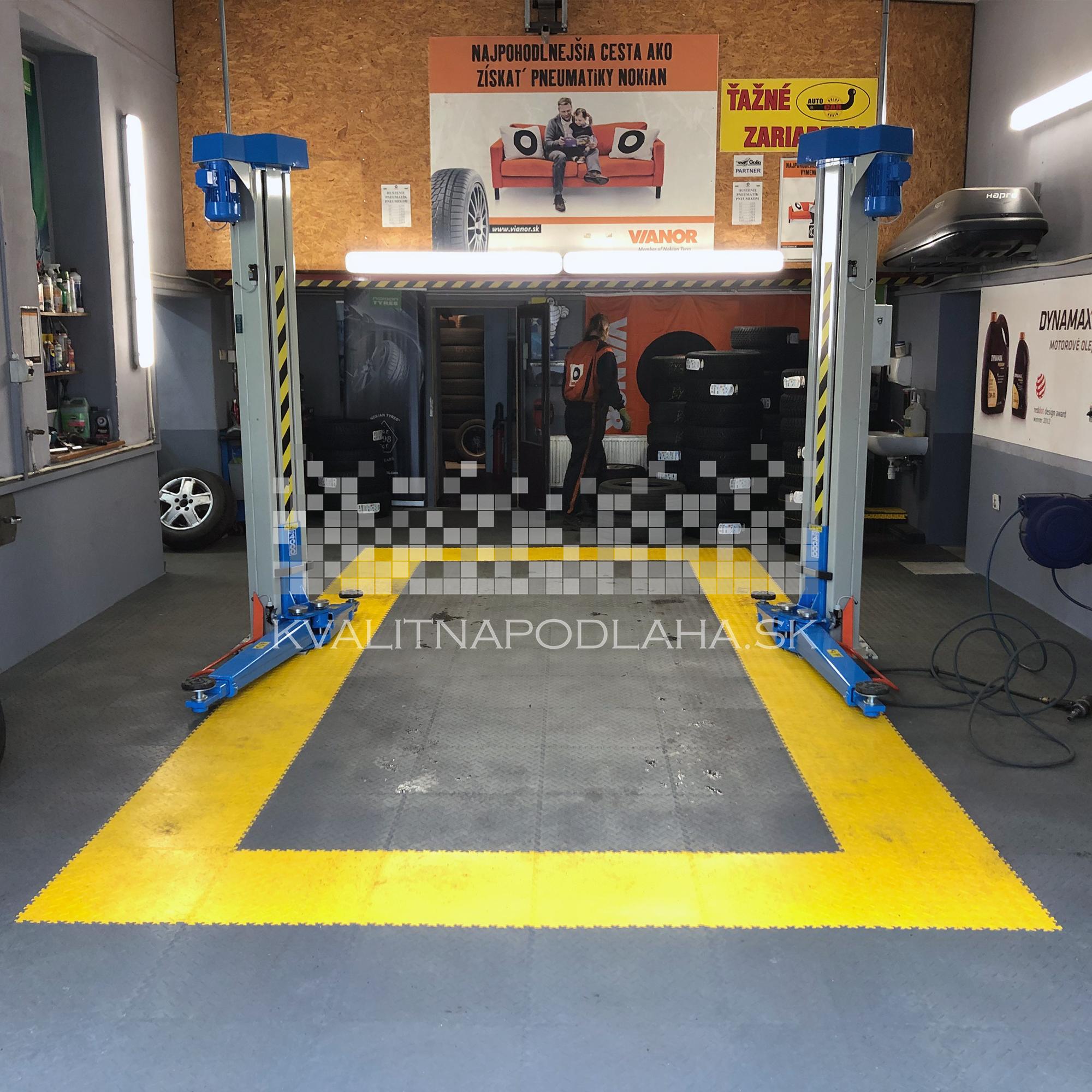 Kvalitná dlažba do pneuservisu Fortelock